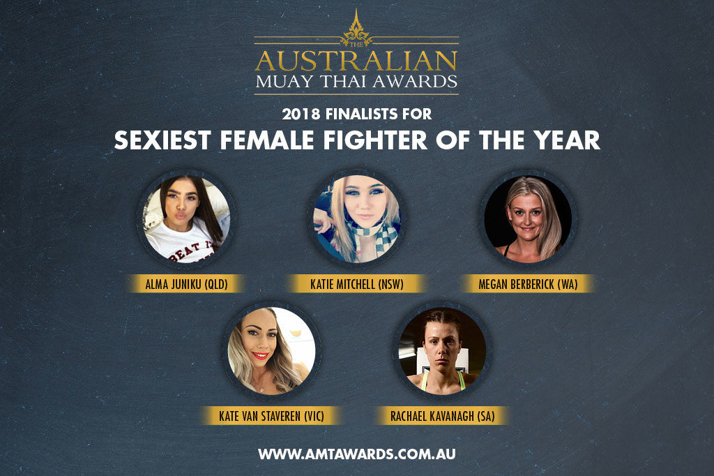 2018 Finalists for Sexiest Female Fighter of the Year